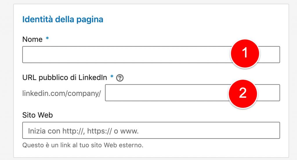 linkedin nome pagina aziendale