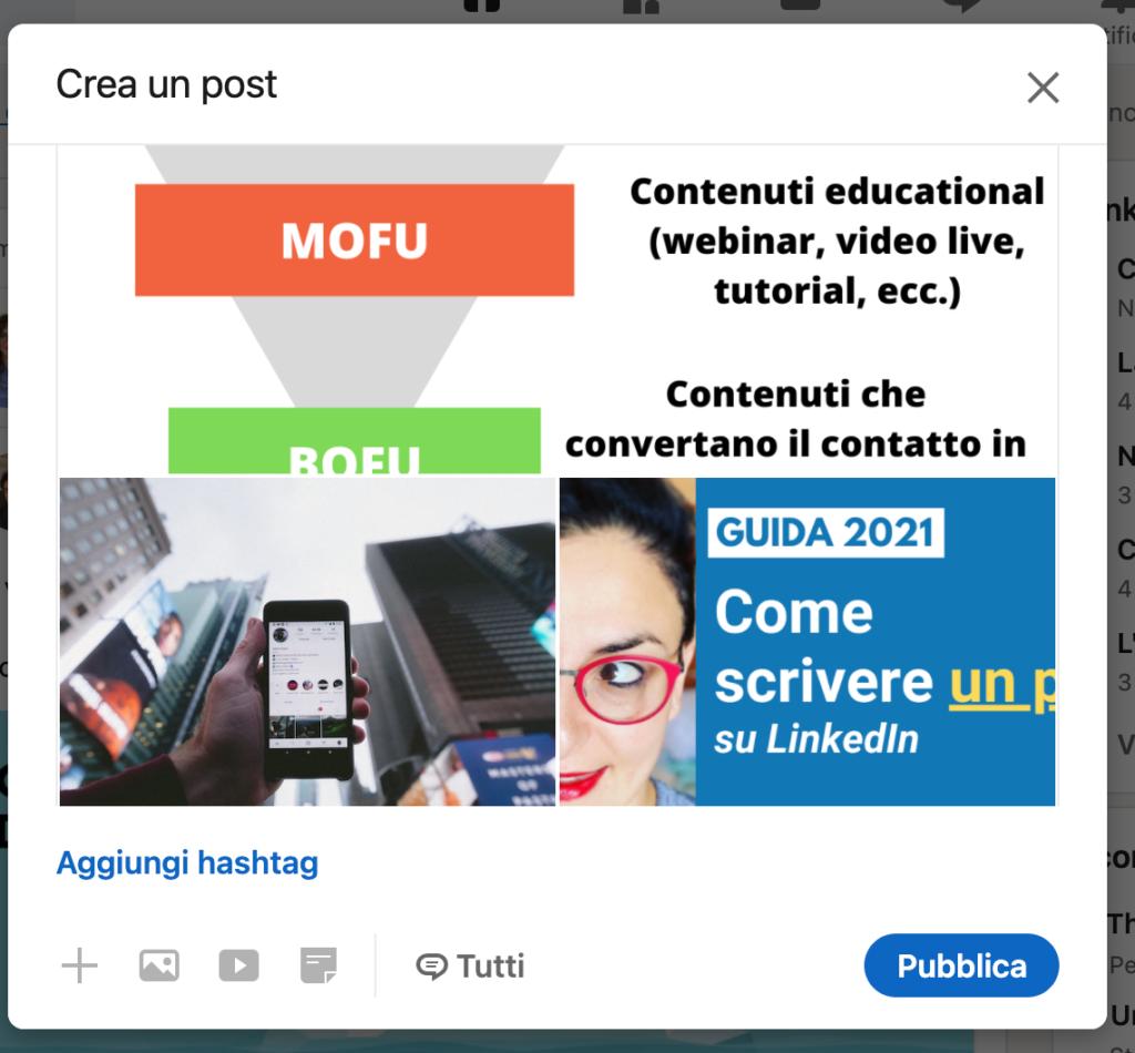 immagini multiple linkedin