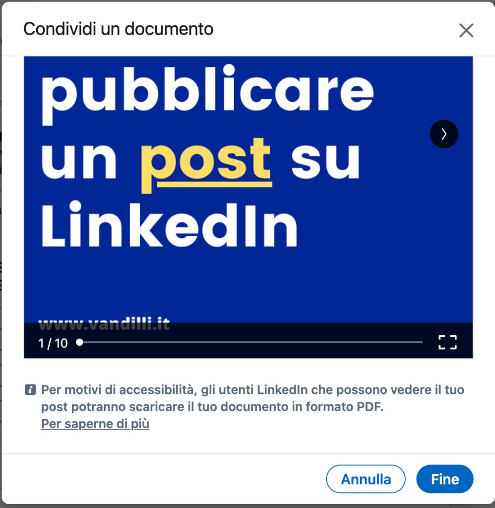 linkedin pdf slide